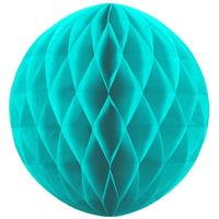 kula bibułowa M średnia 20 cm TURKUSOWA dekoracja