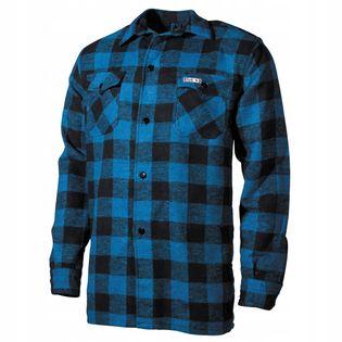 Koszula flanelowa drwala niebiesko-czarna w kratkę M