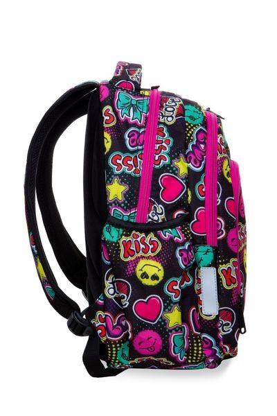Dwukomorowy plecak szkolny CoolPack Strike S 19L, Emoticons A17205