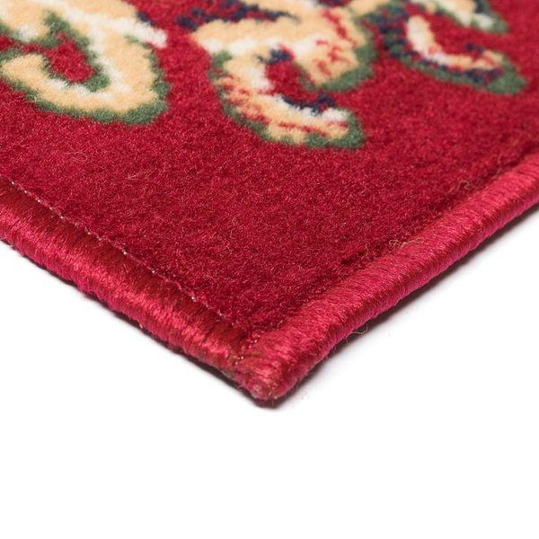 Orientalny Dywan Perski Wzór 160 X 230 Cm Czerwono Beżowy