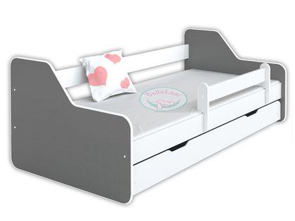 Łóżko dla dzieci DIONE II 160x80 - szare