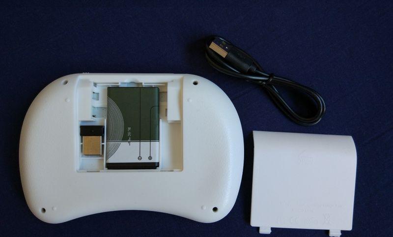 Klawiatura smart TV mini bezprzewodowa i8+ mysz Kolor - Biały zdjęcie 3