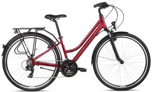 """Kross Trans 1.0 28 L (19"""") rower rubinowy/czarny połysk SR 12 na Arena.pl"""
