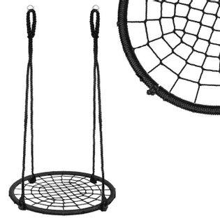Bocianie gniazdo dla dzieci huśtawka ogrodowa 120 cm czarna
