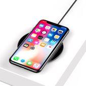 Baseus Simple - Bezprzewodowa ładowarka indukcyjna Qi do iPhone i Android 10W (czarny) zdjęcie 4