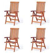 Krzesła ogrodowe składane Wellington meble drewniane składane 4szt