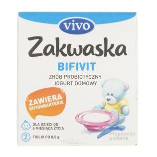 Vivo Zakwaska Bifivit żywe kultury bakterii - 2 fiolki po 0,5 g