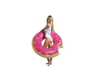 Materac Dmuchany Do Pływania Pączek Donut Różowy 120 CM XL