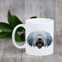 Enjoying a cup with my pup Polski owczarek nizinny - kubek z geometrycznym psem