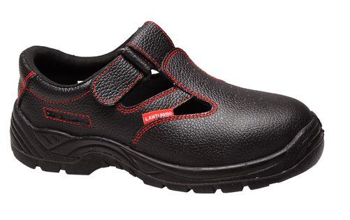 "Sandały bez podnoska skórzane czarne, o1 src, ""47"", ce,lahti"
