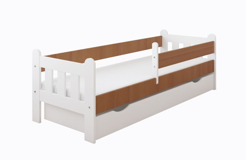 Łóżko STAŚ 140 x 70 z szufladą + barierka ochronna + MATERAC GRATIS zdjęcie 7