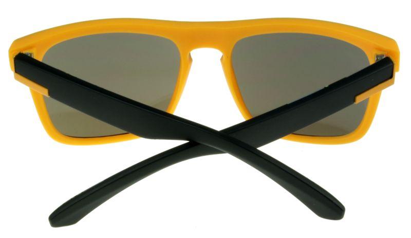 4c2d75fdf39742 Modne okulary przeciwsłoneczne E08 POMARAŃCZOWE z niebieskim lustrem  zdjęcie 3