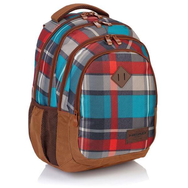 Plecak szkolny młodzieżowy Astra Head HD-97, w kratę zdjęcie 1