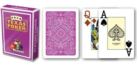 Modiano 2 rogi 100% karty plastikowe - fioletowe I02088