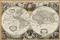 Hondius - starożytna mapa świata Rozmiar - 60x40