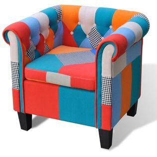 Fotel patchworkowy