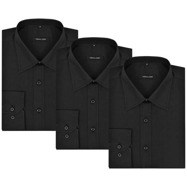 3 Męskie koszule biznesowe, rozmiar XXL czarne • Arena.pl  BCImu