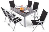 Meble ogrodowe aluminiowe Ibiza Silver / Black 6+1 zdjęcie 12
