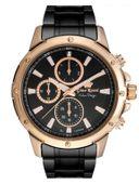 ZEGAREK MĘSKI Zegarek GINO ROSSI 11710B-1A4  Czarny | Różowe złoto