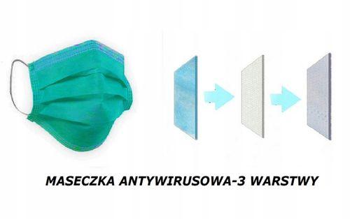 ANTYWIRUSOWA MASKA OCHRONNA MASECZKA MEDYCZNA na Arena.pl