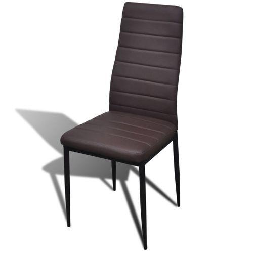 Krzesła do jadalni, 6 szt., smukła linia, brązowe na Arena.pl