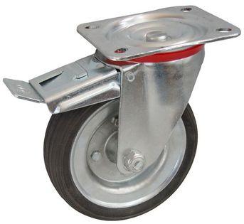 Kółka z hamulce do wózka magazynowego transportowego fi 80, 100 kg