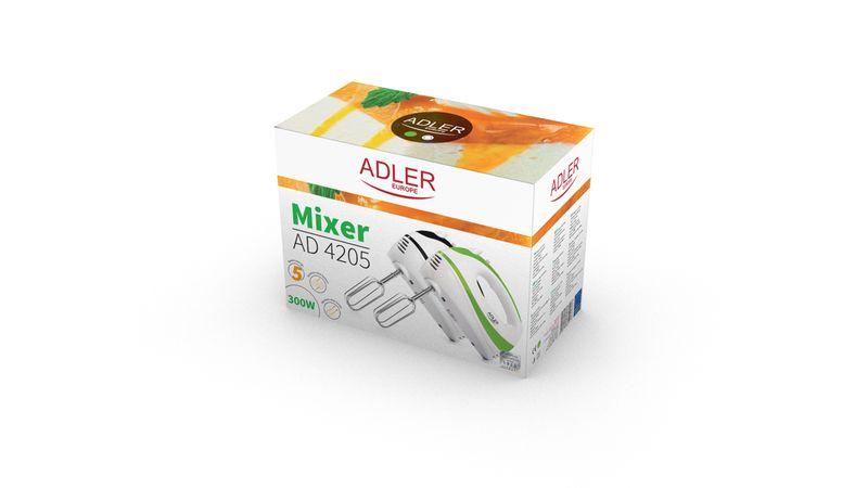 Ręczny mikser kuchenny 550 W Adler AD 4205 - zielony zdjęcie 4