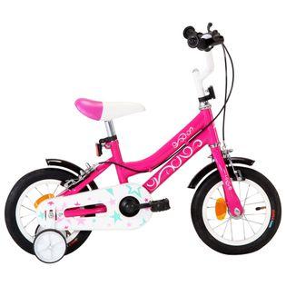Rower dla dzieci, 12 cali, czarno-różowy
