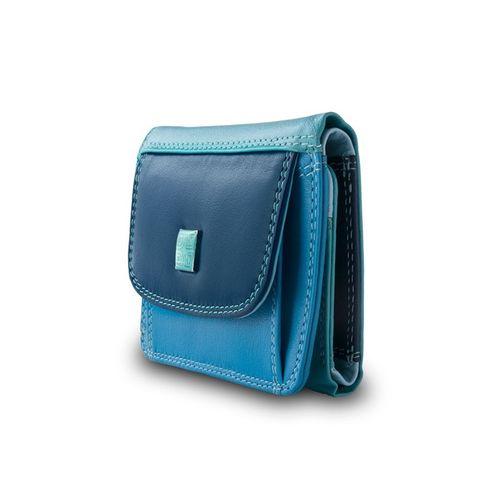 Bardzo mały skórzany portfel damski DuDu®, 534-1167 niebieski na Arena.pl