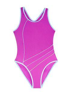 Kostium kąpielowy jednoczęściowy różowy 104-110
