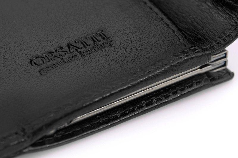 Skórzany portfel damski Orsatti D-02A w kolorze czarnym zdjęcie 9