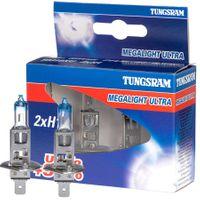 Żarówki halogenowe TUNGSRAM Megalight Ultra +90% H1 12V 55W, 2 szt