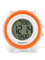 BUDZIK PACIFIC - LCD - 2 ALARMY  Biały | Pomarańczowy