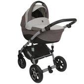 Szary wózek dziecięcy wielofunkcyjny Tirso Tutek zestaw 3w1