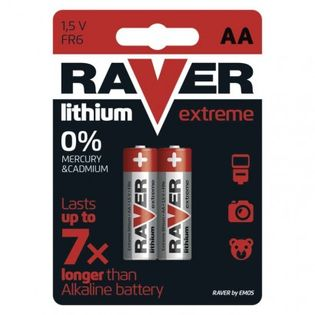 Bateria litowa Raver Lithium AA (FR6) blister 2