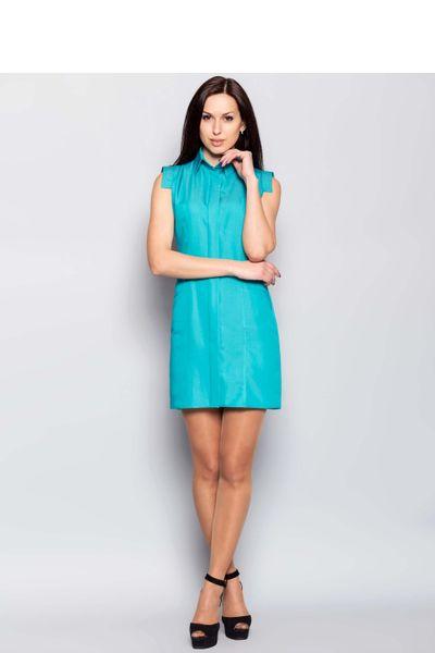 022dc1a664 Sukienka Prosta sukienka z wygodnymi kieszeniami MM1137 Turkus Mira Mod  Rozmiar - 40 zdjęcie 2