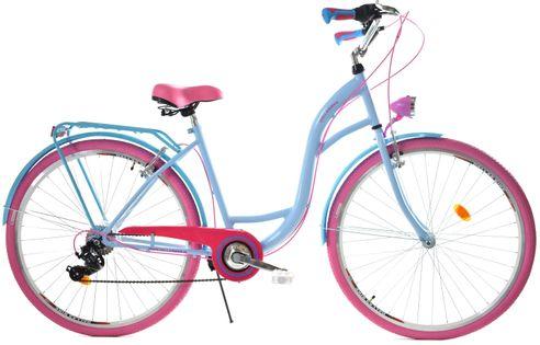 """Rower Dallas City 28"""" 7spd - niebieski z różem"""