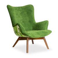 Angel Uszak fotel wzory liście tył super cena nowość