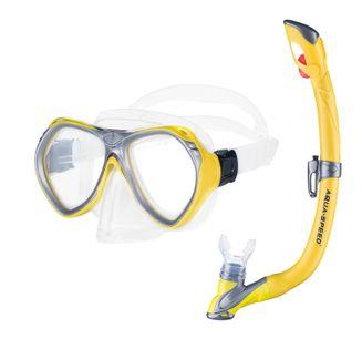 Zestaw do nurkowania AURA + EVO Kolor - Zestaw - Aura+Evo - 18 - żółty