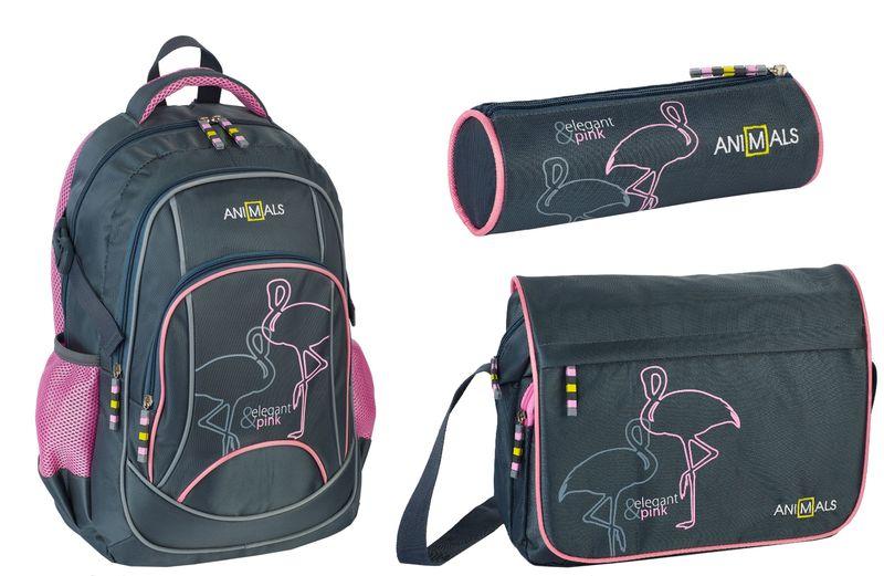 Animals Plecak szkolny młodzieżowy Elegant&Pink zestaw zdjęcie 1