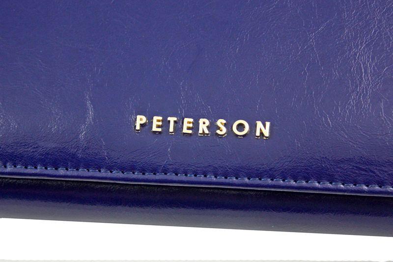 Duży granatowy portfel damski, RFID, Peterson zdjęcie 6