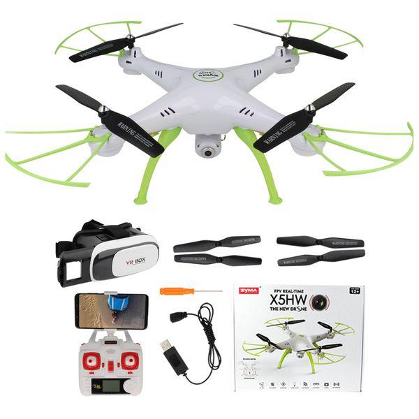 Dron Syma X5HW kamera Wi-Fi funkcja zawisu Gogle VR 3D Biały Y142GB zdjęcie 11