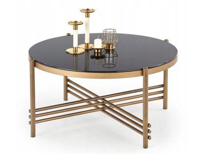 Stolik kawowy w stylu glamour złoty czarny Islandia niepowtarzalny