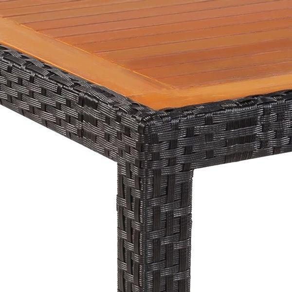 Stół Stolik Ogrodowy Na Taras Balkon Drewniany Rattan 90x90x75