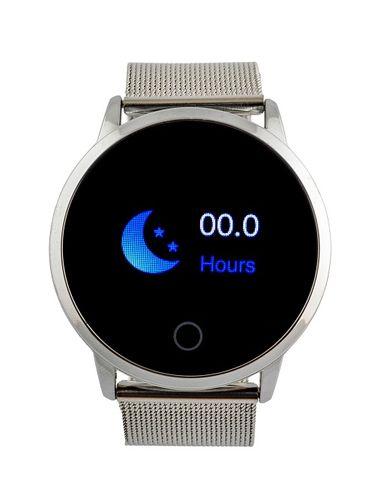 Ciśnieniomierz Smartwatch srebrna bransoleta puls na Arena.pl