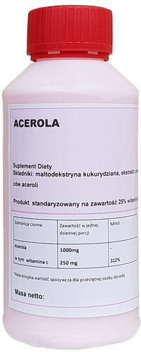 ACEROLA 25% NATURALNA WITAMINA C 100g PROSZEK na Arena.pl