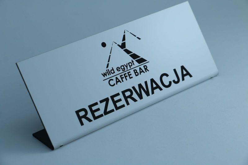 Stojak rezerwacja na stół, tabliczki rezerwacje, tabliczka, stojaki na Arena.pl