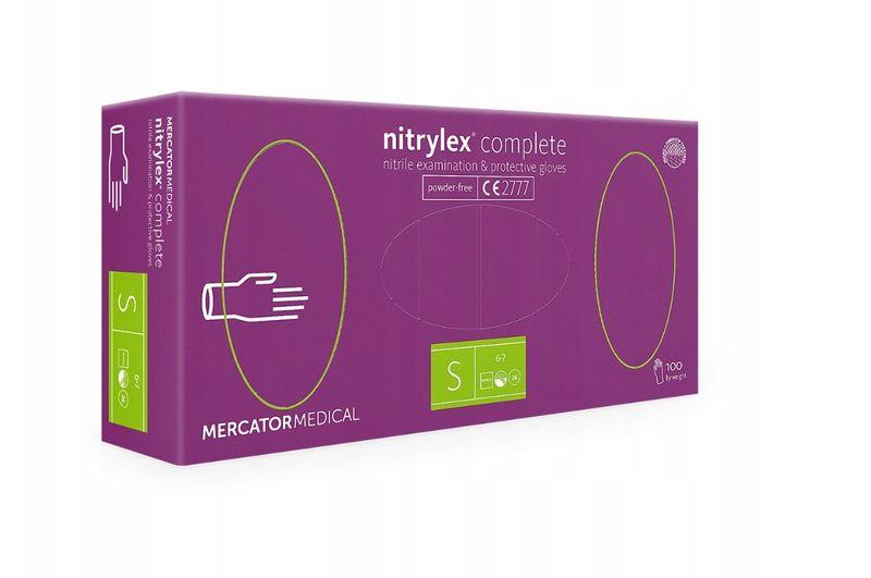 Rękawice nitrylowe nitrylex complete S karton 10 x 100 szt na Arena.pl