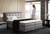 łóżko kontynentalne 160/200 + materac DENIS różne kolory