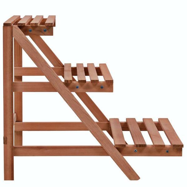 3-Piętrowy Regał Na Rośliny Z Drewna Cedrowego, 48 X 45 X 40 Cm zdjęcie 2